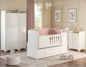 Asansörlü Luks Bebek Odası Takımı Beyaz