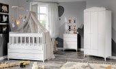 Sansa Sallanabilen Bebek Odası Takımı Beyaz