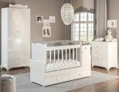 Büyüyen Bebek Odası Takımı Beyaz (Gece Lambalı)