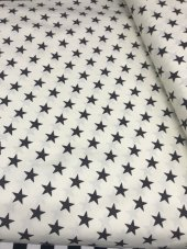 Zeren Home Beyaz Zemin Siyah Yıldızlar Dertsiz Mutfak Masa Örtüsü 130cm X 160cm