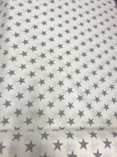 Zeren Home Beyaz Zemin Gri Yıldızlar Dertsiz Mutfak Masa Örtüsü 140cm X 140cm