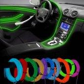 Araç İçi Aydınlatma İp Neon Led Fitilli Elastik Işık Fardoktoru