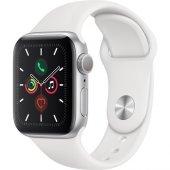 Apple Watch S5 40 Mm Silver Case White Sport...