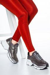 Sanya Taş Detaylı Sneakers Platin-2
