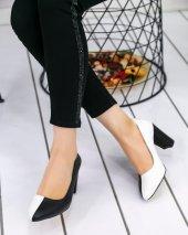 Dena Beyaz Siyah Topuklu Ayakkabı-2