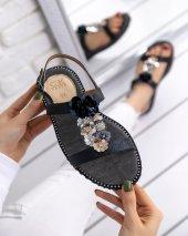 Mila Siyah Cilt Sandalet