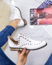 Rain Beyaz Rugan Oxford Ayakkabı