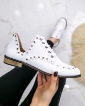 Rain Beyaz Cilt Oxford Ayakkabı