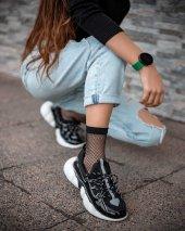 Jami Siyah Rugan Sneaker Ayakkabı