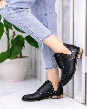 Rain Siyah Cilt Oxford Ayakkabı