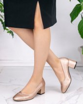 Shana Gold Cilt Topuklu Ayakkabı