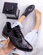 Rain Siyah Rugan Oxford Ayakkabı
