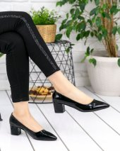 Sever Siyah Rugan Topuklu Ayakkabı-2