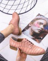 Rosalia Pudra Cilt Desenli Oxford Ayakkabı