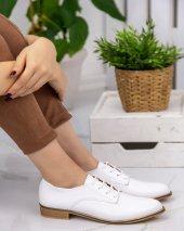 Kelli Beyaz Rugan Oxford Ayakkabı