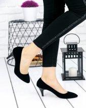 Ponzio Siyah Süet Stiletto Ayakkabı-2