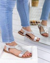 Malani Gümüş Cilt Sandalet