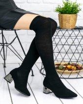 Vide Siyah Ayna Topuklu Çizme