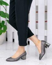 Sever Platin Cilt Ayna Topuklu Ayakkabı-2