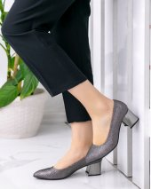 Sever Platin Cilt Ayna Topuklu Ayakkabı-3