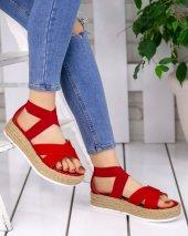 Halena Kırmızı Süet Sandalet