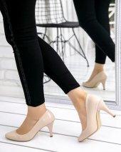 Veran Krem Rugan Stiletto Ayakkabı
