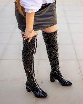 Rafela Siyah Rugan Leopar Desenli Çizme