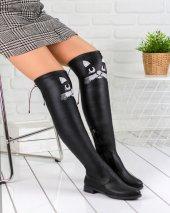 Geomar Siyah Cilt Çorap Çizme