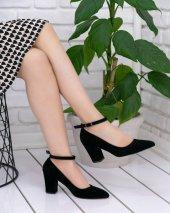 Greta Siyah Süet Topuklu Ayakkabı