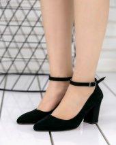 Greta Siyah Süet Topuklu Ayakkabı-3