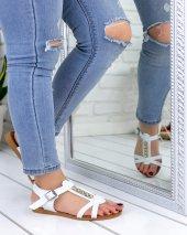 Kenta Beyaz Cilt Sandalet