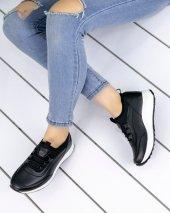 Esty Siyah Cilt Spor Ayakkabı