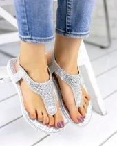 Charlie Gümüş Cilt Sandalet