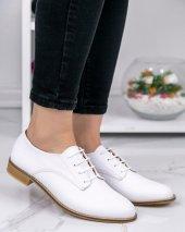 Kelli Beyaz Cilt Oxford Ayakkabı