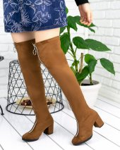 Rafela Taba Süet Çorap Çizme