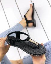 Valerie Siyah Cilt Sandalet