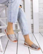 Samiye Vizon Cilt Sandalet