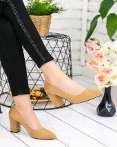 Dena Camel Süet Topuklu Ayakkabı