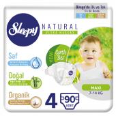 Sleepy Natural Bebek Bezi 4 Numara Maxi 90 Adetli Paket