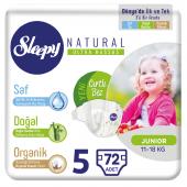 Sleepy Natural Bebek Bezi 5 Numara Junior 72...
