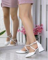 Persis Beyaz Rugan Topuklu Ayakkabı
