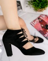 Jocey Siyah Süet Topuklu Ayakkabı