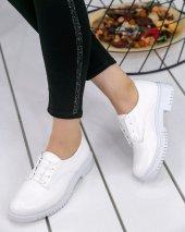 Abbie Beyaz Rugan Oxford Ayakkabı