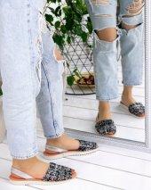 Samiye Siyah Kadife Renkli Sandalet
