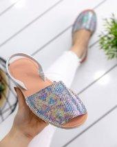 Samiye Renkli Cilt Sandalet