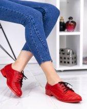 Rosalia Kırmızı Cilt Desenli Oxford Ayakkabı