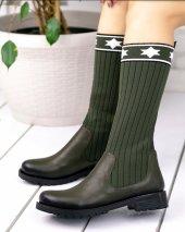 Donzeli Haki Yeşil Cilt Çorap Çizme