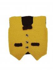 Sarı Renk El Yapımı Erkek Çocuk Yeleği Papyonlu...