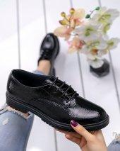 Abbie Siyah Rugan Oxford Ayakkabı