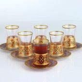 Fantasia Feyza Varaklı 6 Kişilik Çay Bardak...